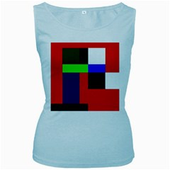 Colorful abstraction Women s Baby Blue Tank Top