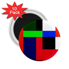 Colorful abstraction 2.25  Magnets (10 pack)