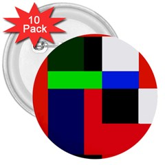Colorful abstraction 3  Buttons (10 pack)