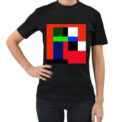 Colorful abstraction Women s T-Shirt (Black)