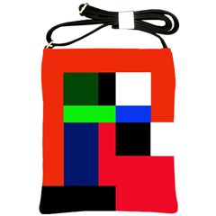 Colorful abstraction Shoulder Sling Bags