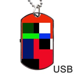 Colorful abstraction Dog Tag USB Flash (One Side)