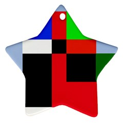 Colorful abstraction Ornament (Star)