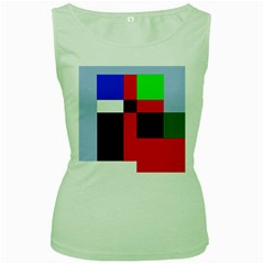 Colorful abstraction Women s Green Tank Top