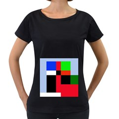 Colorful abstraction Women s Loose-Fit T-Shirt (Black)