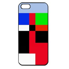 Colorful abstraction Apple iPhone 5 Seamless Case (Black)
