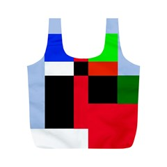 Colorful abstraction Full Print Recycle Bags (M)