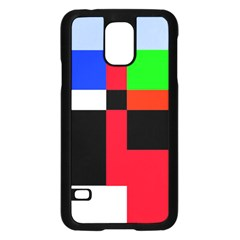 Colorful abstraction Samsung Galaxy S5 Case (Black)