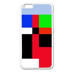 Colorful abstraction Apple iPhone 6 Plus/6S Plus Enamel White Case