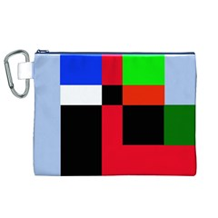 Colorful abstraction Canvas Cosmetic Bag (XL)