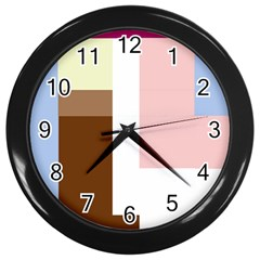Colorful abstraction Wall Clocks (Black)