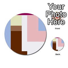 Colorful abstraction Multi-purpose Cards (Round)