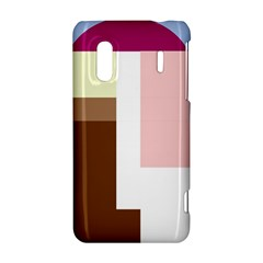 Colorful abstraction HTC Evo Design 4G/ Hero S Hardshell Case
