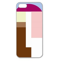 Colorful abstraction Apple Seamless iPhone 5 Case (Clear)