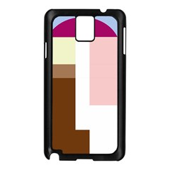 Colorful abstraction Samsung Galaxy Note 3 N9005 Case (Black)