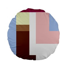 Colorful abstraction Standard 15  Premium Flano Round Cushions