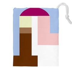 Colorful Abstraction Drawstring Pouches (xxl)