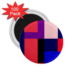 Colorful abstraction 2.25  Magnets (100 pack)