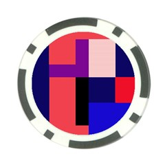 Colorful abstraction Poker Chip Card Guards