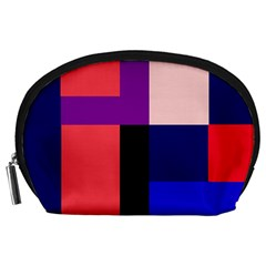 Colorful abstraction Accessory Pouches (Large)