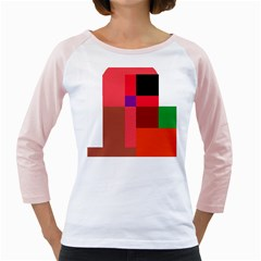 Colorful abstraction Girly Raglans