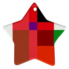 Colorful abstraction Star Ornament (Two Sides)
