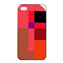 Colorful abstraction Apple iPhone 4/4s Seamless Case (Black)