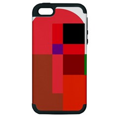 Colorful abstraction Apple iPhone 5 Hardshell Case (PC+Silicone)
