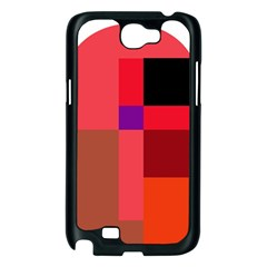Colorful abstraction Samsung Galaxy Note 2 Case (Black)