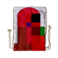 Colorful abstraction Drawstring Bag (Small)