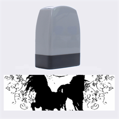 Wonderful Black Horses, With Floral Elements, Silhouette Name Stamps