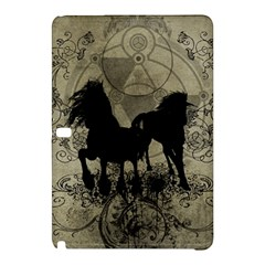 Wonderful Black Horses, With Floral Elements, Silhouette Samsung Galaxy Tab Pro 12.2 Hardshell Case