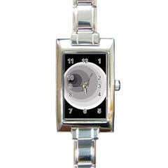 Gray abstraction Rectangle Italian Charm Watch