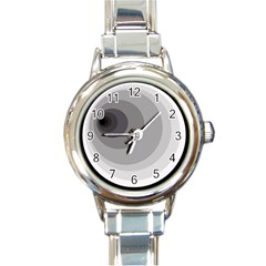 Gray abstraction Round Italian Charm Watch