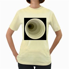 Gray abstraction Women s Yellow T-Shirt