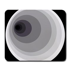 Gray abstraction Large Mousepads