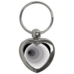 Gray abstraction Key Chains (Heart)