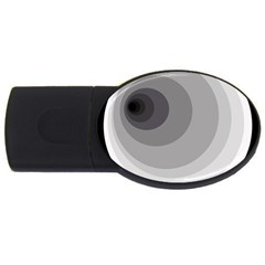 Gray abstraction USB Flash Drive Oval (2 GB)