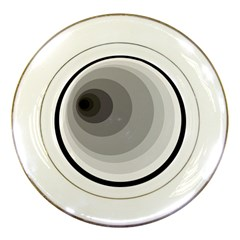 Gray abstraction Porcelain Plates