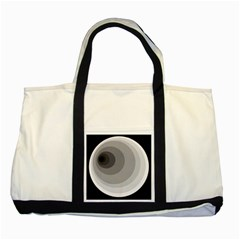 Gray abstraction Two Tone Tote Bag