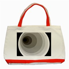 Gray abstraction Classic Tote Bag (Red)
