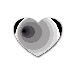 Gray abstraction Heart Coaster (4 pack)