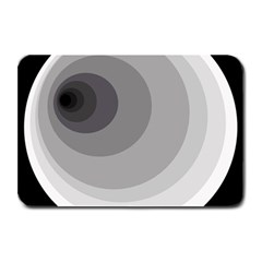 Gray abstraction Plate Mats
