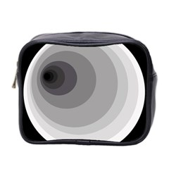 Gray abstraction Mini Toiletries Bag 2-Side