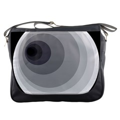 Gray abstraction Messenger Bags