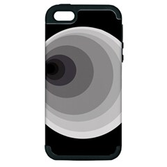 Gray abstraction Apple iPhone 5 Hardshell Case (PC+Silicone)
