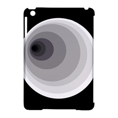 Gray abstraction Apple iPad Mini Hardshell Case (Compatible with Smart Cover)