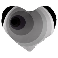 Gray abstraction Large 19  Premium Heart Shape Cushions