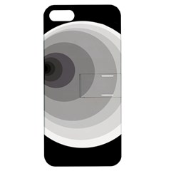 Gray abstraction Apple iPhone 5 Hardshell Case with Stand