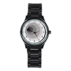 Gray abstraction Stainless Steel Round Watch